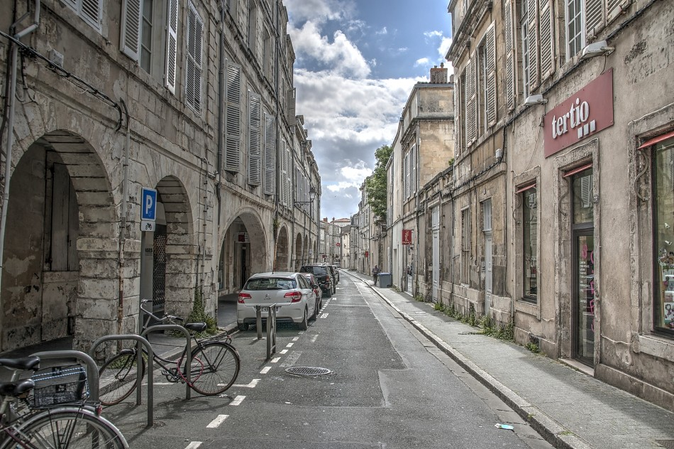 Narrow Street in La Rochelle