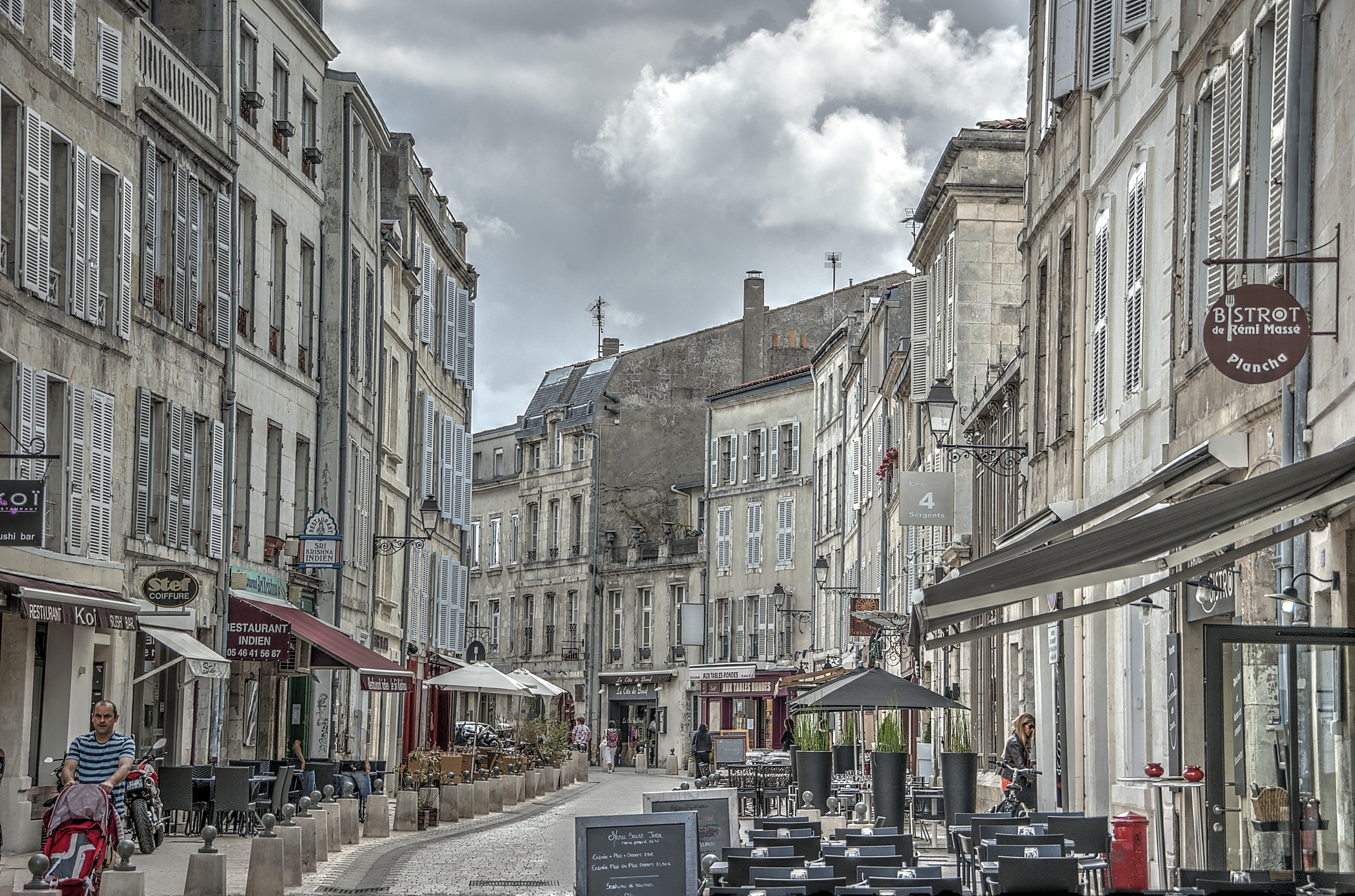Restaurant Row in La Rochelle