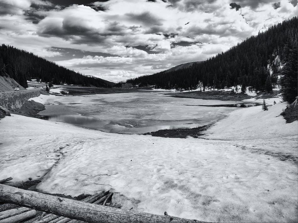Ice Covered Mountain Lake