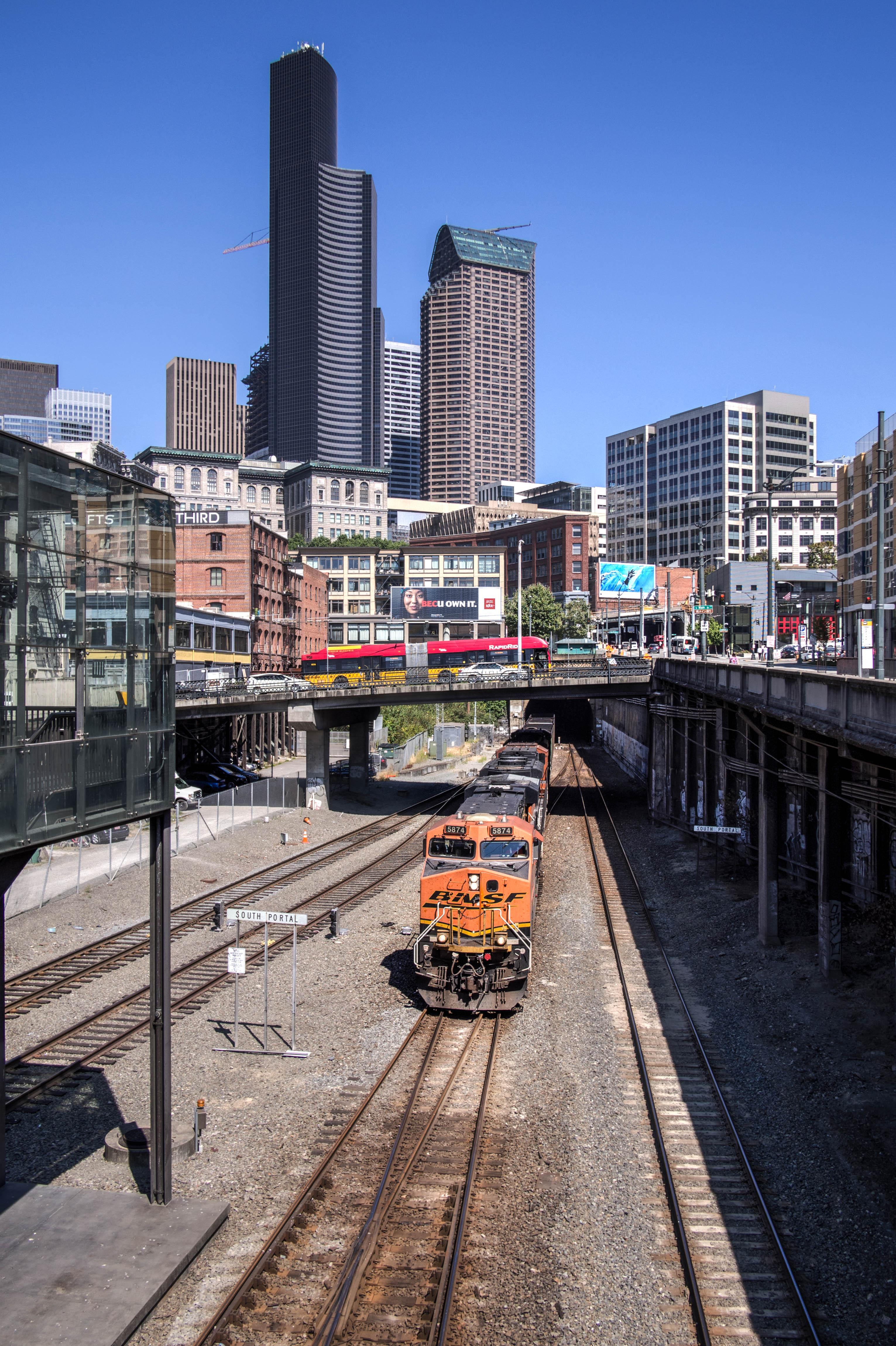 BNSF Rolling Through Seattle