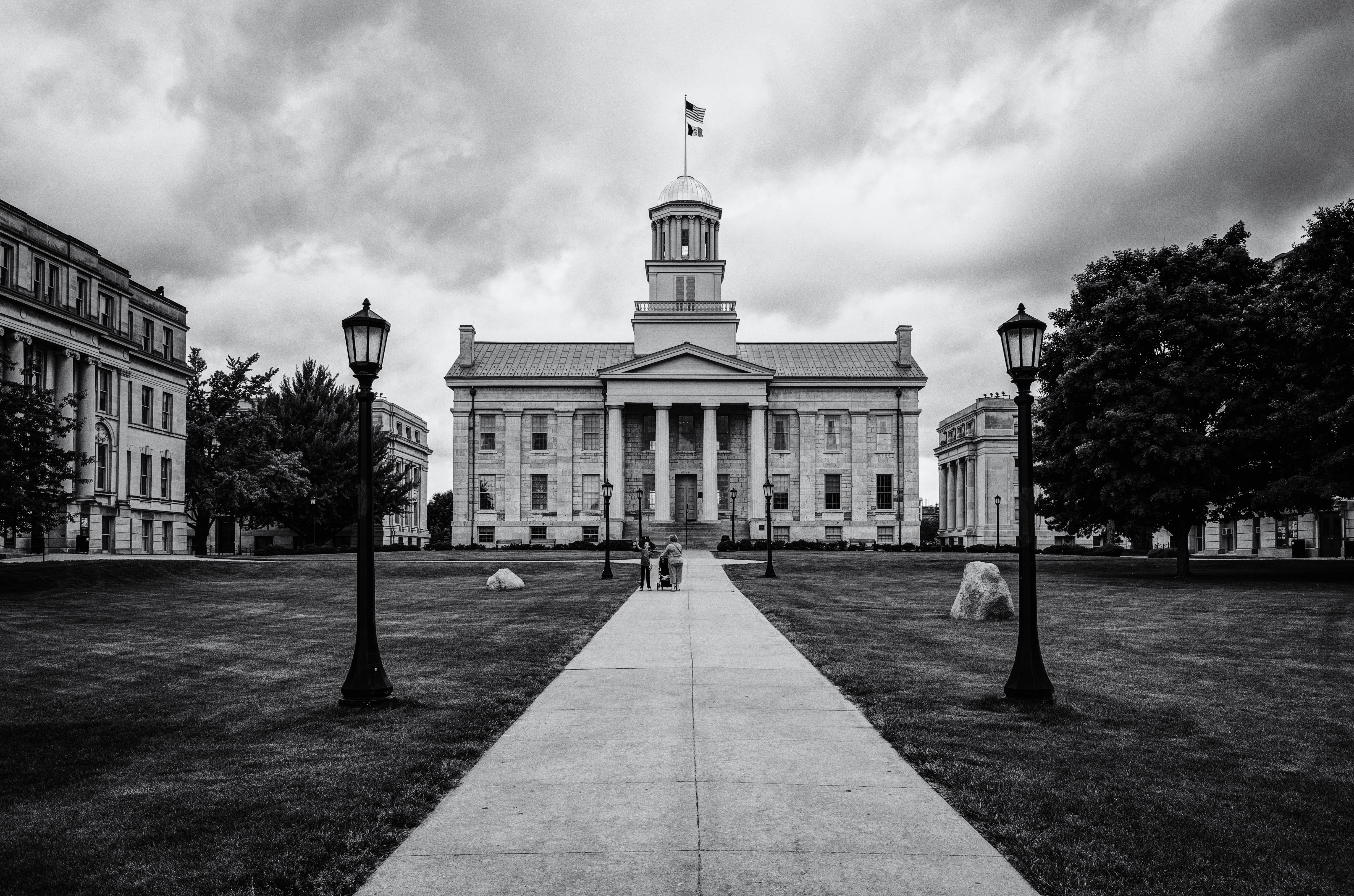 Iowa Territorial Capitol Building - BW