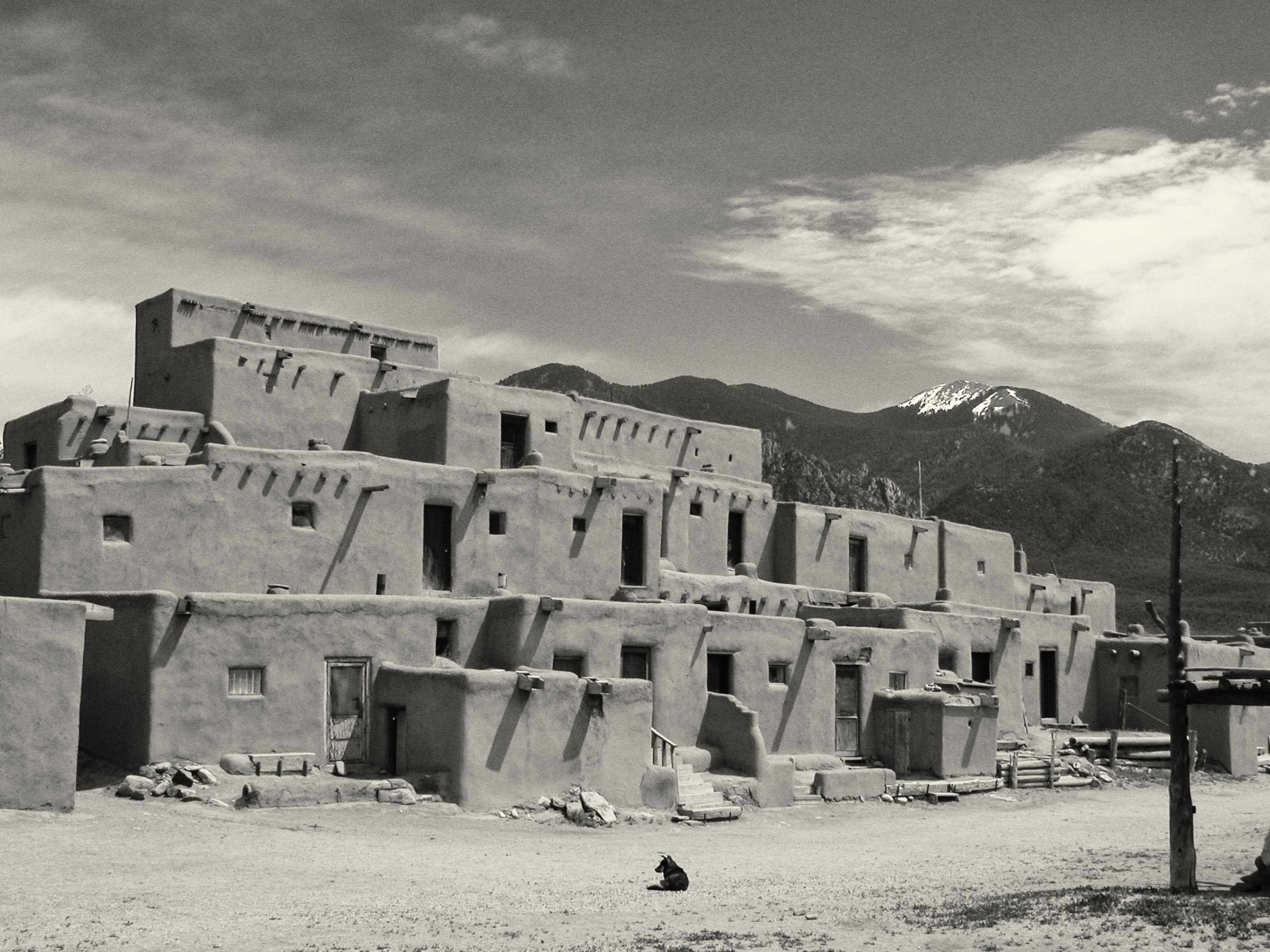 Taos Pueblo - Re-edit of 2003 photo